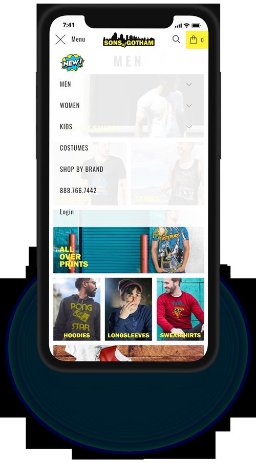 SOG mobile web design