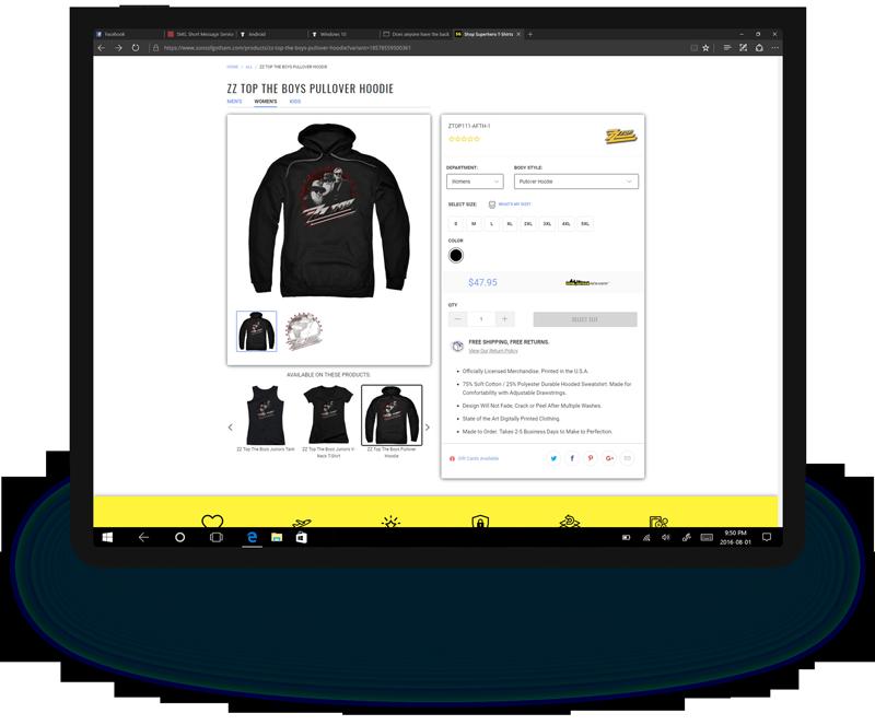 SOG tablet web design